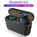 billige Telefon og forretningshodesett-z-yeuy q32 tws ekte trådløse ørepropper bluetooth 5.0 binaural sport ørepropper med ladekasse for iphone android phone