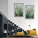 billige Kunsthåndverk-Innrammet Kunstrykk Innrammet Sett - Still Life Blomstret / Botanisk Polystyrene Tegning Veggkunst