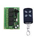 Χαμηλού Κόστους Αξεσουάρ μαλλιών-dc12v 4χ κουμπί εκμάθησης τηλεχειριστήριο διακόπτη / 4 κουμπί απομακρυσμένη / οδήγησε / πόρτες ενεργοποίηση / απενεργοποίηση ελέγχου 433mhz