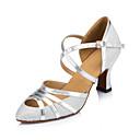 billige Ballroom-sko og moderne dansesko-Dame Moderne sko Syntetisk Cross Strap Høye hæler Tvinning Kubansk hæl Kan spesialtilpasses Dansesko Sølv / Ytelse