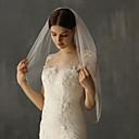 זול קישוטי חתונה-שכבה אחת מסוגנן הינומות חתונה צעיפי מרפק עם גדילים (פרנזים) טול