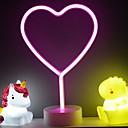 Χαμηλού Κόστους 3D φώτα τη νύχτα-1pc 3D Nightlight Ροζ Μπαταρίες AA Powered Δημιουργικό 5 V