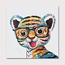ราคาถูก ภาพวาดสัตว์-ภาพวาดสีน้ำมันแขวนทาสี มือวาด - สัตว์ต่างๆ งานศิลปะป๊อป ที่ทันสมัย รวมถึงด้านในกรอบ