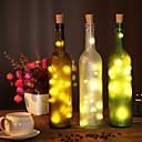 povoljno LED svjetla u traci-2m vino boca pluta string svjetla 20 leds smd 0603 toplo bijelo / bijelo / više boja vodootporno / party / vjenčanje / Božić / Halloween baterije powered 1pc