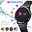 Χαμηλού Κόστους Έξυπνα Ρολόγια-q8 έξυπνο ρολόι oled έγχρωμη οθόνη smartwatch άνδρες γυμναστήριο tracker ρυθμό καρδιακού ρυθμού έξυπνο βραχιολάκι