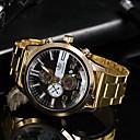 Χαμηλού Κόστους Ρολόγια-Ανδρικά Ρολόι Φορέματος Χαλαζίας Καθημερινό Ρολόι Αναλογικό Κλασσικό - Μαύρο Χρυσό