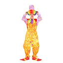 זול תחפושות מבוגרים-ליצן תחפושות קוספליי מבוגרים בגדי ריקוד גברים חג ליל כל הקדושים פֶסטִיבָל האלווין (ליל כל הקדושים) פסטיבל / חג טרילן מוזהב / צהוב / כחול בגדי ריקוד גברים בגדי ריקוד נשים תחפושות קרנבל גיאומטרי