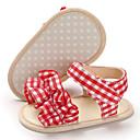baratos Sandálias Infantis-Para Meninas Primeiros Passos Lona Sandálias Crianças (0-9m) / Criança (9m-4ys) Preto / Vermelho / Rosa claro Verão