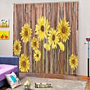 Χαμηλού Κόστους Ψεύτικα Λουλούδια & Βάζα-ηλιοτρόπιο κουρτίνες ισχυρή αντοχή παχύ αδιάβροχο πολυέστερ κουρτίνα λουτρού θερμότητας / ηχομόνωση κουρτίνες κουρτίνες ύφασμα για δωμάτιο / σαλόνι