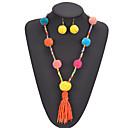 ราคาถูก เครื่องประดับศาสนา-สำหรับผู้หญิง สร้อยคอ ต่างหู พู่ ความหรูหรา โบฮีเมียน ต่างหู เครื่องประดับ กุหลาบแดง / ส้ม / สายรุ้ง สำหรับ คริสมาสต์ ปาร์ตี้ ของขวัญ เทศกาลคานาวาล ฮอลิเดย์ 1set