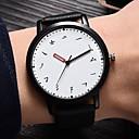 billiga Moderingar-Dam Armbandsklocka Mode minimalist Svart PU-läder Kinesiska Quartz Svart Vit Ny Design Vardaglig klocka 1 st Ramtyp Ett år Batteriliv