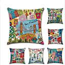 povoljno Slike za cvjetnim/biljnim motivima-6 kom Posteljina Navlaka za jastuk, Gradovi Arhitektura Europska Moda Baci jastuk