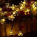 billige Smartbrytere-sol lamper ledet lys lys 7m 50led med kirsebær blomstrer krans jul til bryllup hage fest utendørs klubb