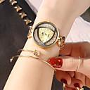 billige Smartbrytere-soxy damer armbåndsur gull og sølv svart tre farge uregelmessig mønster design elegant kjole ur