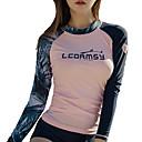 billiga Våtdräkter underställ och rashguards-LCDRMSY Dam Rashguard Baddräkt Badkläder UV Solskydd Andningsfunktion Långärmad Simmning Dykning Enfärgad Höst Vår Sommar
