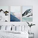 billige Innrammet kunst-Innrammet Lerret - Abstrakt Polystyrene Olje Maleri Veggkunst