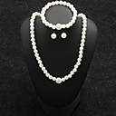 povoljno Komplet nakita-Žene Svadbeni nakit Setovi Retro slatko Elegantno Imitacija bisera Naušnice Jewelry Obala Za Vjenčanje Party 1set