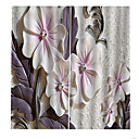povoljno Prozorske zavjese-graciozan jasan cvjetovi ispis zatamnjenje zavjese lako ugradnja s prstenovima topline / zvučne izolacije za dedroom / dnevni boravak / balkon debeli vodootporna kupka zavjese