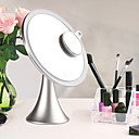 Χαμηλού Κόστους Καθρέφτες-Καλλυντικά καθρέφτες Νεό Σχέδιο / Φωτιστικό LED / Youth Μακιγιάζ 1 pcs Κράμα Στρογγυλό Παγκόσμιο / Θηλασμός / Υγεία & Ομορφιά Απλός / Φορητό Καθημερινά Ρούχα Machiaj Zilnic Ομορφιά Καθημερινά
