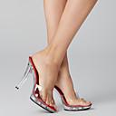ราคาถูก รองเท้าClogs & Mulesสำหรับผู้หญิง-สำหรับผู้หญิง รองเท้าไม้ & รองเท้าหัวทู่ รองเท้าแตะเยลลี่ ส้น Stiletto / Platform พีวีซี ปั๊มพื้นฐาน / รองเท้าคลับ ฤดูร้อน / ตก สีดำ / แดง / สีดำและสีขาว / งานแต่งงาน / พรรคและเย็น / พรรคและเย็น