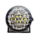 זול תאורה קדמית לרכב-2pcs 12v 18led drl עגול רכב מנורת ערפל נהיגה בשעות היום פועל אור בהיר לבן