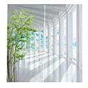 Χαμηλού Κόστους 3D κουρτίνες-ευρωπαϊκή σύγχρονη απλή στυλ κουρτίνες περίπλοκη κεντήματα μαύρο κουρτίνα υφάσματος πάχους αδιάβροχο για μπάνιο