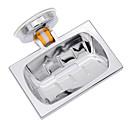 Χαμηλού Κόστους Αξεσουάρ για εργαλεία κουζίνας-τετράγωνο σχήμα επιμεταλλωμένο κλασικό μπάνιο ντους νεροχύτης σαπούνι πιάτο κάτοχος καλάθι κενού βεντούζα κύπελλο διακόσμηση δεν γεώτρηση