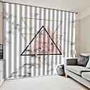 billige Flush Mount-lamper-moderne enkel design vindusgardiner dekorative gardiner blackout 100% polyester stoff soverom / stue / hotell