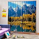 billige LED-stringlys-3d print privatliv to paneler tilpasset polyester gardin for soverom / stue dekorative vanntette støv-proof høy kvalitet gardiner