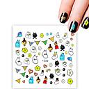 billiga Dekaler-1 pcs Klistermärken Tecknad serie nagel konst manikyr Pedikyr Ministil / Säkerhet / Slim design Stilig / Enkel Dagligen / Festival