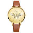 baratos Brincos-Mulheres Relógio Elegante Quartzo Couro Marrom 30 m Impermeável Relógio Casual Analógico Borboleta Fashion - Dourado Um ano Ciclo de Vida da Bateria