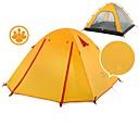Χαμηλού Κόστους Εξτένσιος μαλλιών με φυσικό χρώμα-Naturehike 4 άτομα Αντίσκηνα Βουνού Εξωτερική Φορητό Αντιανεμικό Καλά αεριζόμενο Διπλής στρώσης Πόλος Θόλος Camping Σκηνή >3000 mm για Κυνήγι Κατασκήνωση Ταξίδι Σιλικόνη Καμβάς Αλουμίνιο 210*210*135