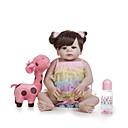 billige Reborn-dukker-Reborn-dukker Babyjenter 22 tommers Full Body Silicone - Barn / Ungdommer Barne Unisex Leketøy Gave