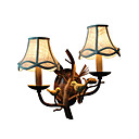 economico Lampade a candela da parete-tessuto di campagna americano applique creative 2 luci porta applique da parete uccello e nutdesign applique per soggiorno camera da letto