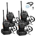 billiga Tillbehör till GoPro-4st baofeng bf-888s uppladdningsbart långdistansområde 5w 2800 amh tvåvägs radio walkie talkies 16-kanalers handhållen radio inbyggd leddfackmikrofon med hörsnäcka (förpackning med 4) 4 pack 1of usb
