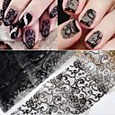 billiga folie Papper-10 pcs Snör åt klistermärken Romantisk serie nagel konst manikyr Pedikyr Slim design Stilig / Vintage Dagligen / Festival