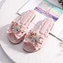 Χαμηλού Κόστους Παιδικά Slipper-Κοριτσίστικα Ανατομικό / Λουλουδάτα φορέματα για κορίτσια Μικροΐνα Παντόφλες & flip-flops Νήπιο (9m-4ys) / Τα μικρά παιδιά (4-7ys) Φιόγκος Ροζ Ανοικτό / Κρύσταλλο Άνοιξη / Καλοκαίρι / Καοτσούκ