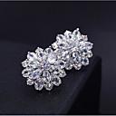 povoljno Svadbene svijeće-Žene Kubični Zirconia Sitne naušnice 3D Cvijet slatko Moda Platinum Plated Imitacija dijamanta Naušnice Jewelry Pink Za Dnevno Rad 1 par