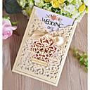 """baratos Arrumação e Organização-Dobrado de Lado Convites de casamento 50pçs - Cartões de convite Papel Pérola 7 1/2 """"×6 1/4"""" (19*13.5cm)"""