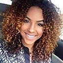Χαμηλού Κόστους Ιδιαίτερες συνθετικές περούκες με δαντέλα-Συνθετικές Περούκες Afro Afro Kinky Με αφέλειες Περούκα Κοντό Μεσαίου Μήκους Σκούρο Καφέ / Medium Auburn Συνθετικά μαλλιά 18 inch Γυναικεία Πάρτι Γυναικεία Όμπρε Ανοικτό Καφέ