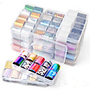 billige Negleklistremerker-hnuix 10 farger nail art star transfer paper varmt salg regnbuehimmel japansk stil neglfolie klistremerke neglelakk klistremerke