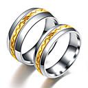 povoljno Muško prstenje-Muškarci Žene Band Ring Prsten Prstenasti prsten 1pc Zlato Srebro Tikovina Titanium Steel Cirkularno Osnovni Moda Dar Dnevno Jewelry Cool