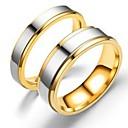ราคาถูก ไฟวิ่งในตอนกลางวัน-สำหรับผู้ชาย สำหรับผู้หญิง วงแหวน แหวน หางแหวน 1pc สีทอง Rose Gold เหล็กกล้าไร้สนิม Titanium Steel วงกลม พื้นฐาน แฟชั่น ของขวัญ ทุกวัน เครื่องประดับ เท่ห์