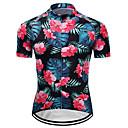 billiga Cykeltröjor-21Grams Blommig Botanisk Hawaii Herr Kortärmad Cykeltröja - Rosa Cykel Tröja Överdelar Andningsfunktion Fuktabsorberande Snabb tork sporter Terylen Bergscykling Vägcykling Kläder / Microelastisk