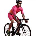 baratos Glitter tatuagem-BOESTALK Homens Manga Curta Camisa com Bermuda Bretelle Vermelho Rosa Pontos Moto Conjuntos Respirável Pavio Humido Secagem Rápida Esportes Elastano Pontos Ciclismo de Montanha Ciclismo de Estrada