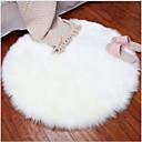 Χαμηλού Κόστους χαλιά-Dongguan pho_07n5 βελούδο στρογγυλό χαλί πατάρι μαξιλάρι πάτωμα μαξιλάρι απομίμηση μαλλί χαλί εσωτερική διακόσμηση διάμετρος 30cm_ λευκό
