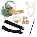 Χαμηλού Κόστους Κοστούμια, Αξεσουάρ & Κοσμήματα-The Great Gatsby Κρεμαστό Σκουλαρίκι Ρετρό / Βίντατζ 1920s Gatsby Τεχνητό φτερό Αξεσουάρ Κοστού Αξεσουάρ Γάντια Κολιέ Για Πάρτι / Κοκτέιλ Φεστιβάλ Halloween Απόκριες Γυναικεία Κοστούμια Κοσμήματα