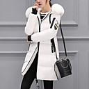 זול תיקי יד-M / L / XL לבן / תלתן / אפור פוליאסטר, מעיל פרקה רגיל אחיד בגדי ריקוד נשים