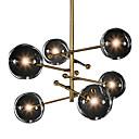 billige Island Lights-sirkel anheng lys malt ferdig galvanisert metall 220v / 110v varm hvit / dimbar med fjernkontroll / kald hvit