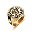billige Herreringer-Herre Ring 1pc Gull Titanium Stål Geometrisk Form Stilfull Gave Daglig Smykker Klassisk Mot Kul